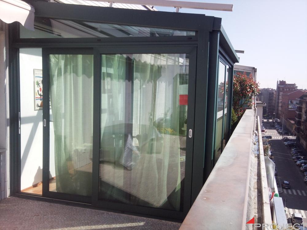 Giardino dinverno - Privato - Milano  Project Strutture Rivalta Torino